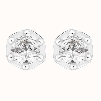 Perfection Crystals Six Claw Single Stone Stud Earrings (0.05ct) E3253-SK