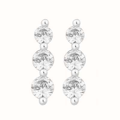 Perfection Crystals Graduating Claw Set Trilogy Stud Earrings (0.50ct) E3426-SK