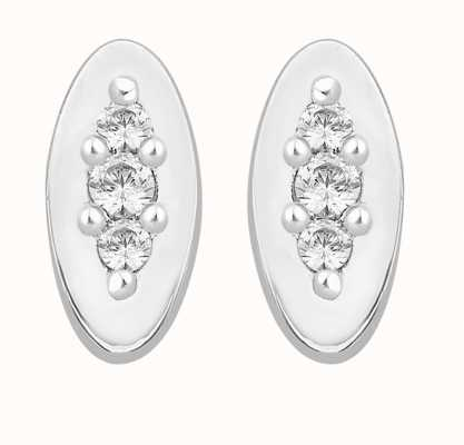 Perfection Swarovski Trilogy Stud Earrings on an Oval Mount (0.10ct) E3649-SK
