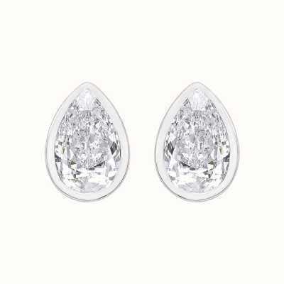 Perfection Swarovski Single Stone Rubover Pear Stud Earrings (0.50ct) E3946-SK