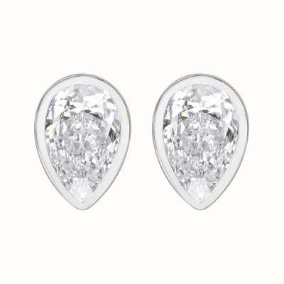 Perfection Swarovski Single Stone Rubover Pear Stud Earrings (1.25ct) E3949-SK