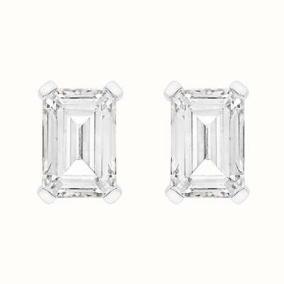 Perfection Swarovski Single Stone Claw Set Emerald Stud Earrings (1.00ct) E4046-SK