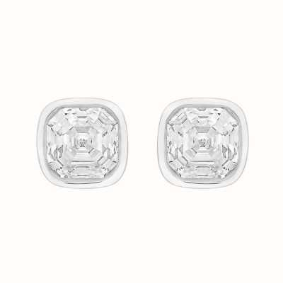 Perfection Swarovski Single Stone Rubover Imperial Mosaic Stud Earrings (0.80ct) E405 E4054-SK