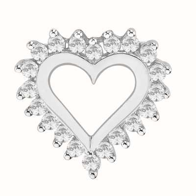 Perfection Swarovski Heart Pendant with Surrounded Stones (0.50ct) P3023-SK