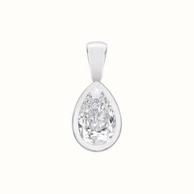 Perfection Swarovski Single Stone Rubover Pear Cut Pendant (0.25ct) P5509-SK