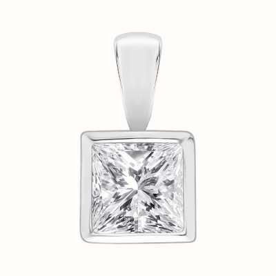 Perfection Swarovski Single Stone Rubover Princess Cut Pendant (1.00ct) P5531-SK