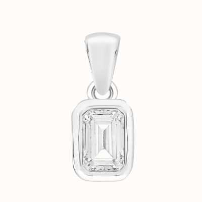 Perfection Swarovski Single Stone Rubover Emerald Pendant (0.50ct) P5678-SK