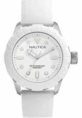 Nautica NSR100 Mens White Strap Analogue Watch A09603