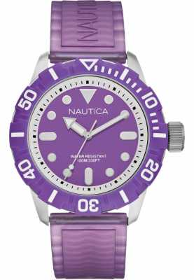 Nautica NSR100 Mens Purple Strap Analogue Watch A09606