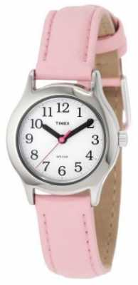 Timex Womens/Kids Pink Leather Strap  Watch T79081