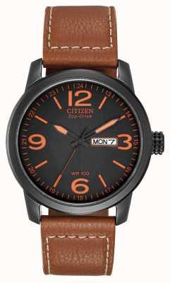 Citizen Men's Eco-Drive | Chandler Military Brown Leather BM8475-26E