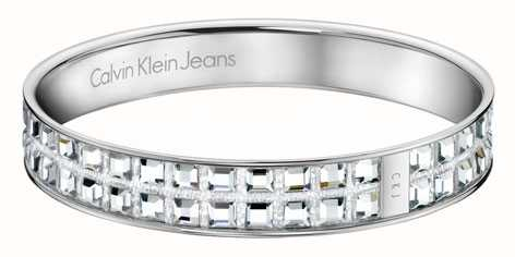 Calvin Klein Womens Crystal Set Bangle KJ37AB01050M