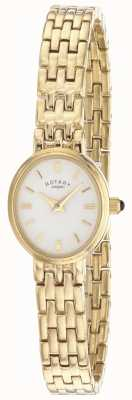Rotary Womens Gold Plated Bracelet LB02084/02