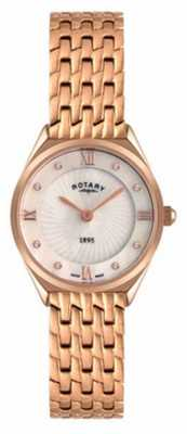 Rotary Womens Rose Gold Mother-of-pearl Dial Watch LB08003/41