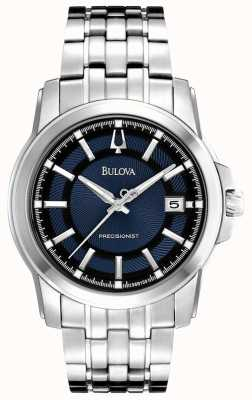 Bulova Mens Precisionist Blue Silver Watch 96B159