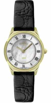 Rotary Womens Slim Black Leather Strap Watch LS08002/41