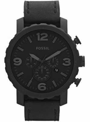 Fossil Mens Black Chronograph X-Large Watch JR1354