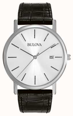 Bulova Mens Dress Silver Black 96B104