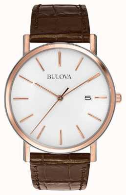 Bulova Mens Rose Gold Plated Watch 98H51