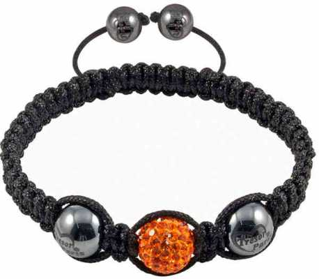 Tresor Paris Orange Crystal Black Bracelet 016503