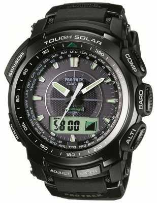 Casio Men's Pro-trek Black Radio Controlled Watch PRW-5100-1ER