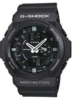 Casio Men's G-Shock Black Chronograph GA-150-1AER