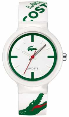 Lacoste Unisex Green and White Resin Watch 2010522