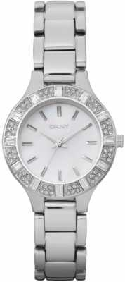 DKNY Womens Silvertone Stainless Steel Watch NY8485