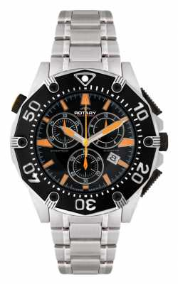 Rotary Men's Black Dial Chronograph Watch AGB90036/C/04