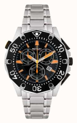 Rotary Mens Black Dial Chronograph Watch AGB90036/C/04