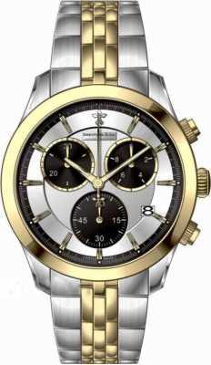 Dreyfuss Mens Two Tone Chronograph Bracelet Watch DGB00063/06