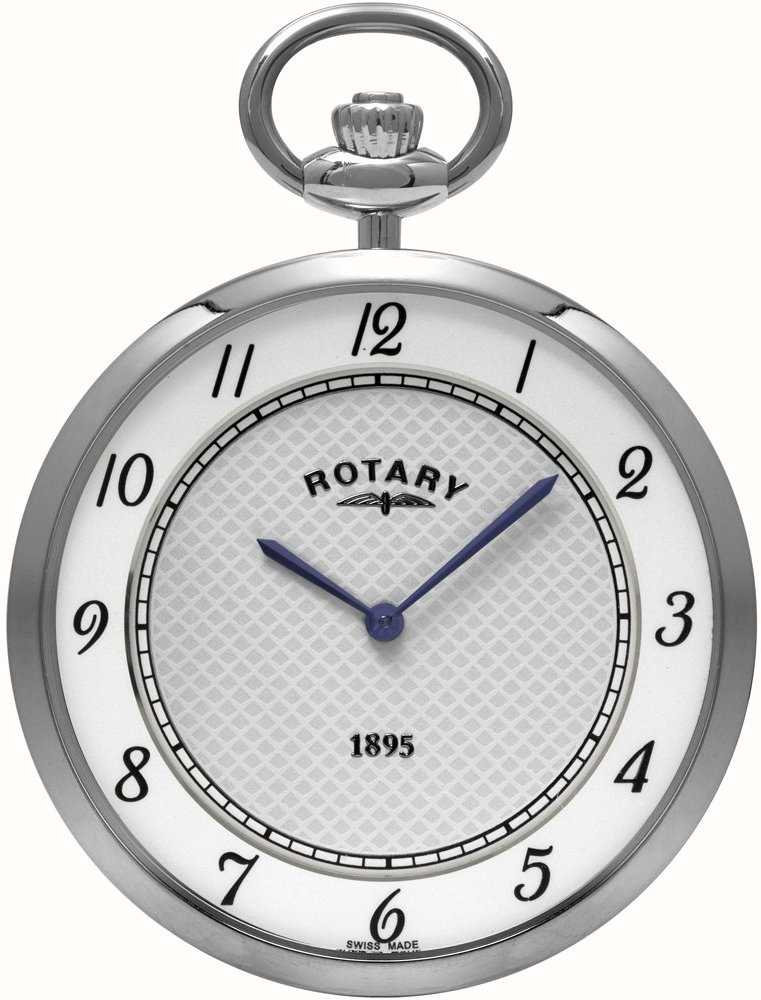 rotary mens stainless steel pocket watch mp08000 18. Black Bedroom Furniture Sets. Home Design Ideas