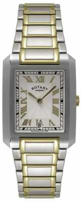 Rotary Mens Two Tone Rectangular Dial Watch GB02606/21
