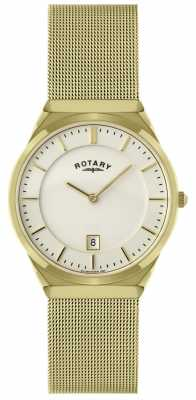 Rotary Mens Gold Mesh Bracelet Watch GB02613/03