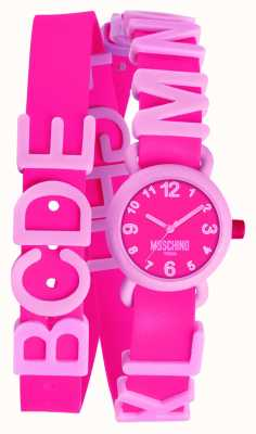 Moschino Womens Vibrant Pink Watch MW0327