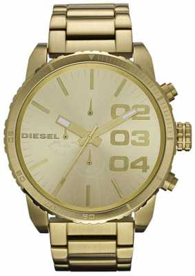 Diesel Men's Chronograph Gold Tone Steel Bracelet Watch DZ4268