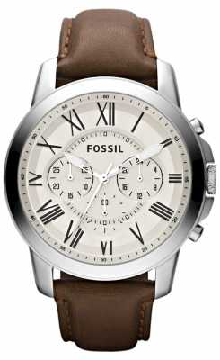 Fossil Men's Chronograph Leather Strap FS4735