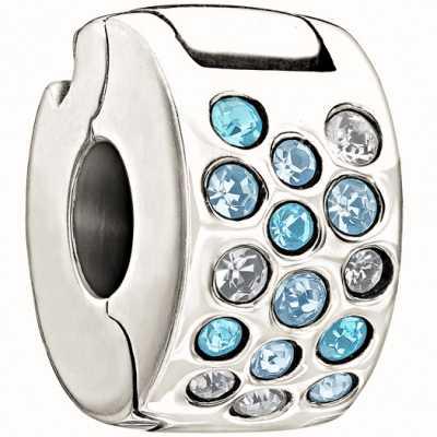Chamilia Glimmer Lock-Blue & Clear 1430-0006