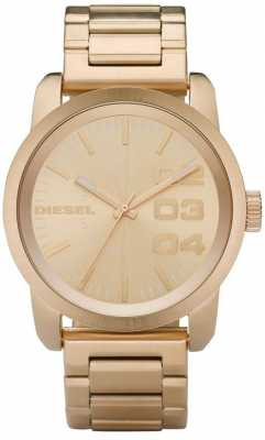 Diesel Mens Gold Plated Stainless Steel DZ1466