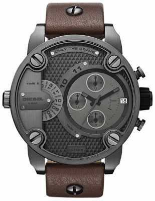 Diesel Men's Chronograph Brown Leather Strap DZ7258