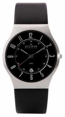 Skagen Men's Steel Leather Strap Watch 233XXLSLB