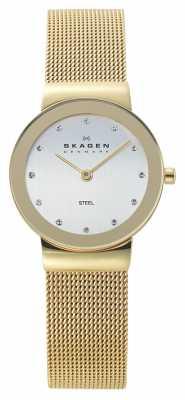 Skagen Womens Gold Tone Mesh Watch 358SGGD