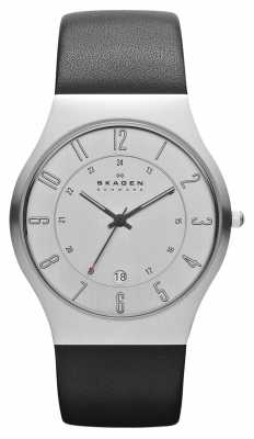 Skagen Mens Leather Strap Watch 233XXLSLC
