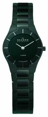 Skagen Black Label Womens' Black Circle Dial  Watch 585XSTMXB