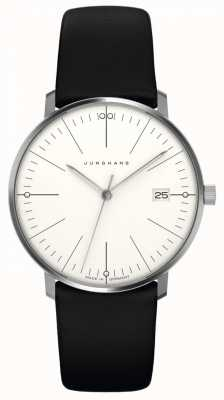 Junghans max bill Womens | Black Leather Strap | 047/4251.00