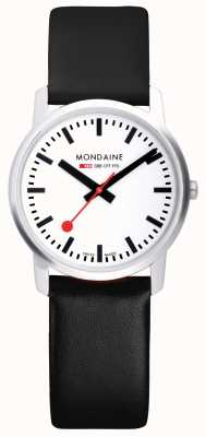 Mondaine Mens Simply Elegant Black Leather Watch A638.30350.11SBB