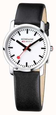 Mondaine Ladies Simply Elegant Black Leather Watch A400.30351.11SBB