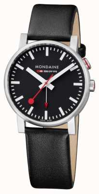 Mondaine Evo2 Alarm Black Leather Strap A468.30352.14SBB
