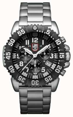 Luminox Navy SEAL Colormark Chronograph Stainless-steel Black Dial Watch XS.3182