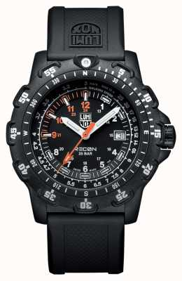 Luminox Men's RECON Pointman 8820 Series Black & Orange Rubber (km/h Tachymeter) XL.8821.KM